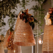 hanging decor, naked bulbs