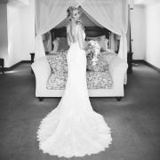 bridal portrait, open back wedding dress, wedding dress, white dress