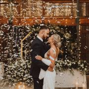 bride and groom, bride and groom, bride and groom, confetti