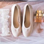 brides accessories, brides shoes, earrings, garter, perfume