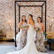 bride and bridesmaids, wedding dresses, wedding dresses
