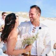 beach, bride and groom, suit