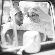 bride, car, groom, veil