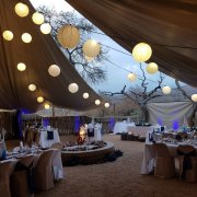 outdoor reception, wedding decor