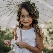 flower girl, parasol