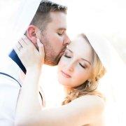 bride, groom, veil