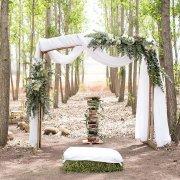 forest, wedding arch