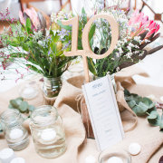 table decor, table numbers