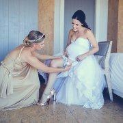 bridal shoes, garter, shoes