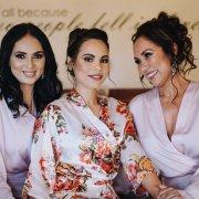 bridesmaids dressing gowns, hair and makeup, hair and makeup