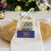 table setting, wedding favour