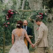 flower arch, wedding dress, wedding dress
