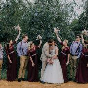 kiss, wedding party
