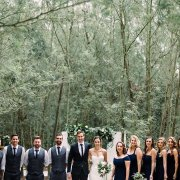 forest, wedding party