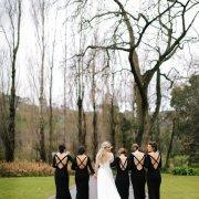 bridesmaids dress, black