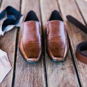 belt, grooms accessories, grooms shoes, tie