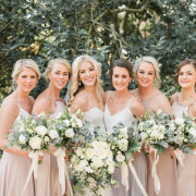 bouquets, bridal party