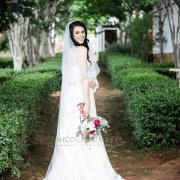 bouquet, bride, veil