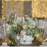 table decor, flowers, table numbers