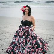 bride, engagement shoot, flowers