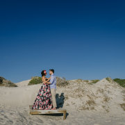 beachvibe, bride, engagement shoot, groom