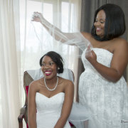 bride, bridesmaids, bridesmaids, veil