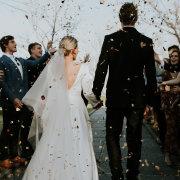 bride and groom, bride and groom, bride and groom, confetti