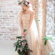 bouquet, headpiece, wedding dress