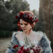 flower crown, fur bolero