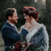 bride and groom, bride and groom, fur bolero