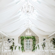 draping, indoor ceremony