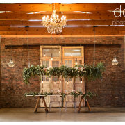 hanging greenery, table decor