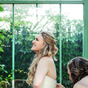 bride, getting ready, hair