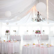 centrepiece, draping, table decor