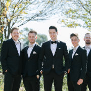 groom and groomsmen, tuxedos