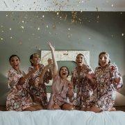 bride and bridesmaids, bridal party