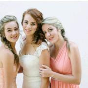 bride, bridesmaids, bridesmaids, hair, makeup