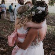 bride, bride and flowergirl, flower crowns