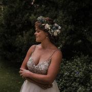 bride, flower crown