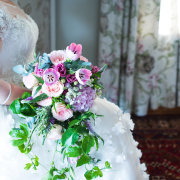 bouquet, pink and purple