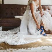 bridal shoes, something blue