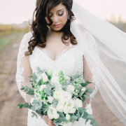 bouquet, green and white