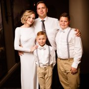 husband and wife, our family, step sons