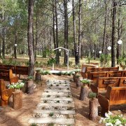 forest, outside ceremony