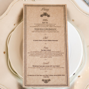 menu, stationery