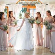 bouquets, bridesmaids dresses, bridesmaids dresses, wedding dresses