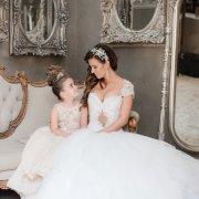 bride, flower girl