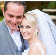 bow tie, bride, grey, groom, pink, suit