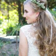 bridal hairstyles, flower crown