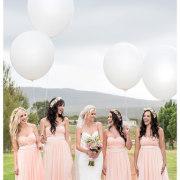 balloon, bridesmaid dress